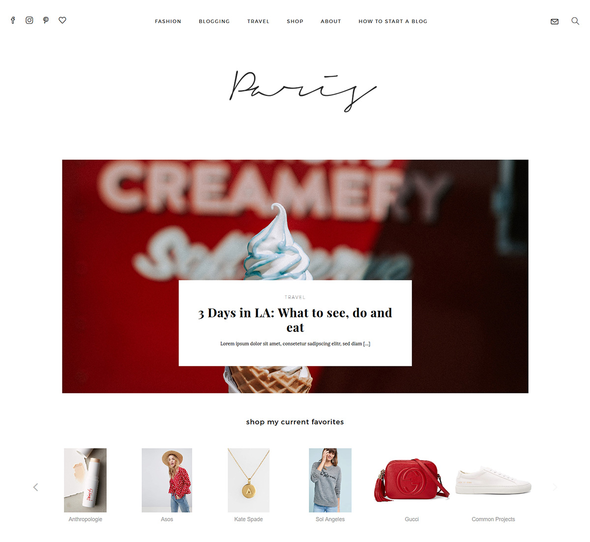 wordpress themes and tutorials for fashion and lifestyle blogs munichparis studio. Black Bedroom Furniture Sets. Home Design Ideas