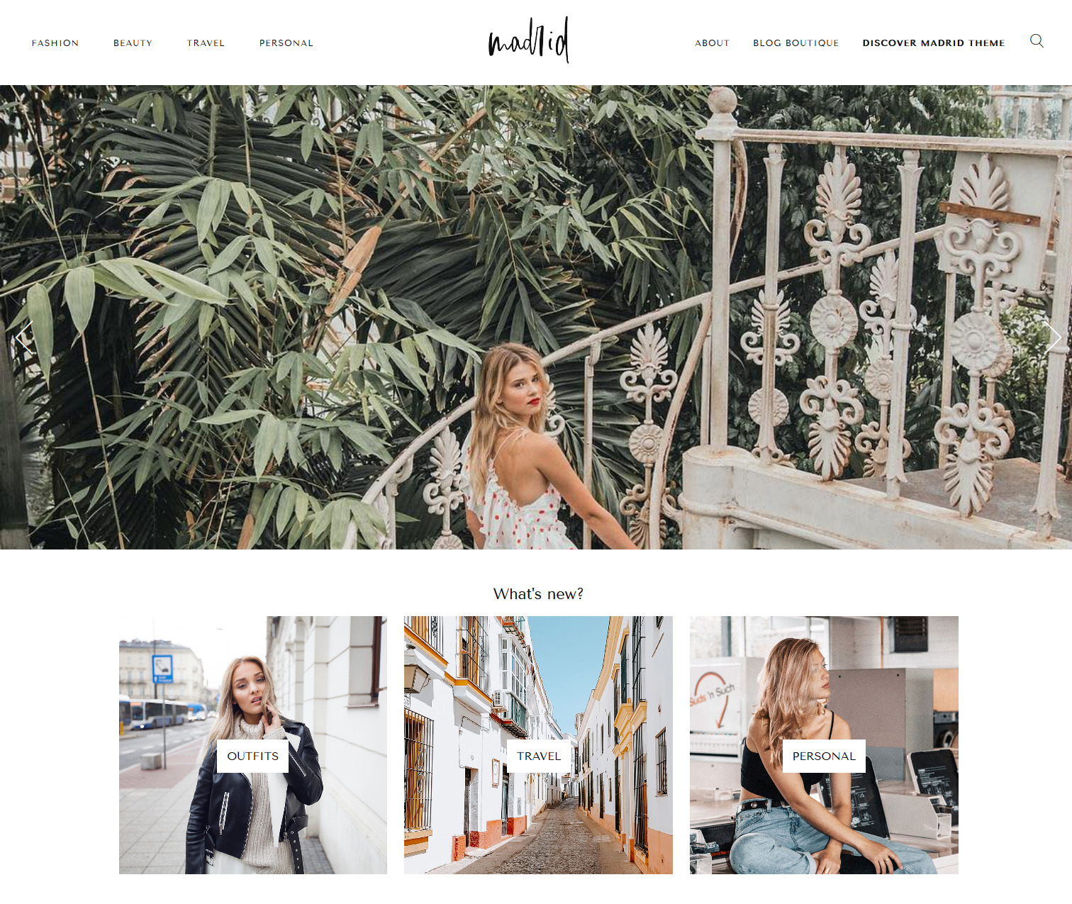 Madrid - A WordPress Theme for Fashion Bloggers - easy to install and customize - Shopping Affiliate Features - Make Money with Blogging and this theme is easy