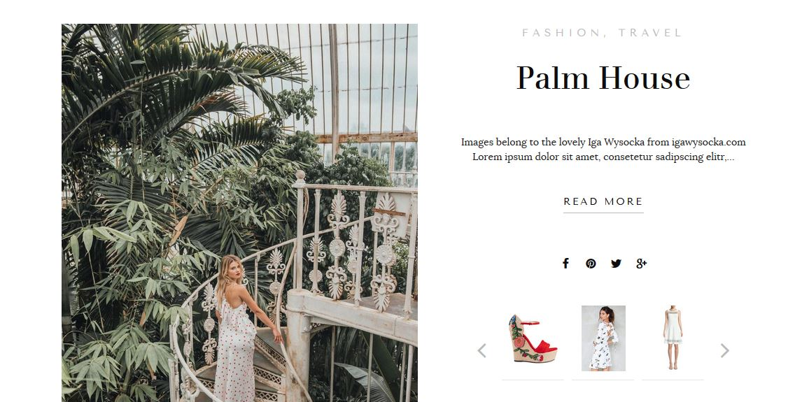 WordPress Theme for Fashion Bloggers includes Shop the Post Widget and Shop my Favorites and a Blog Boutique with easy to install features