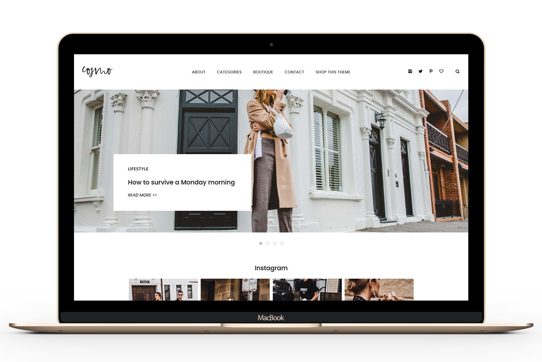 Cosmo - A Minimal WordPress Blog Theme for Fashion and Lifestyle Bloggers