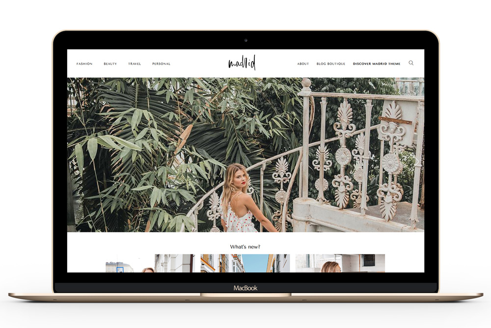 Madrid - A Fashion Magazine Theme for bloggers and influencers with focus on big, crisp images
